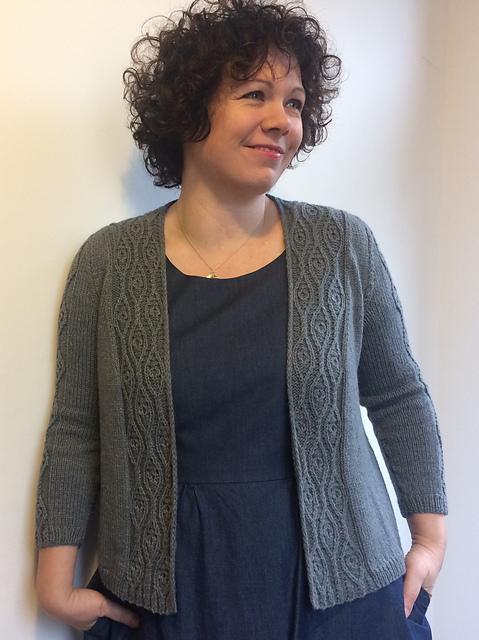 Dore Cardigan knit in The Fibre Co. Luma by Sarah Hatton