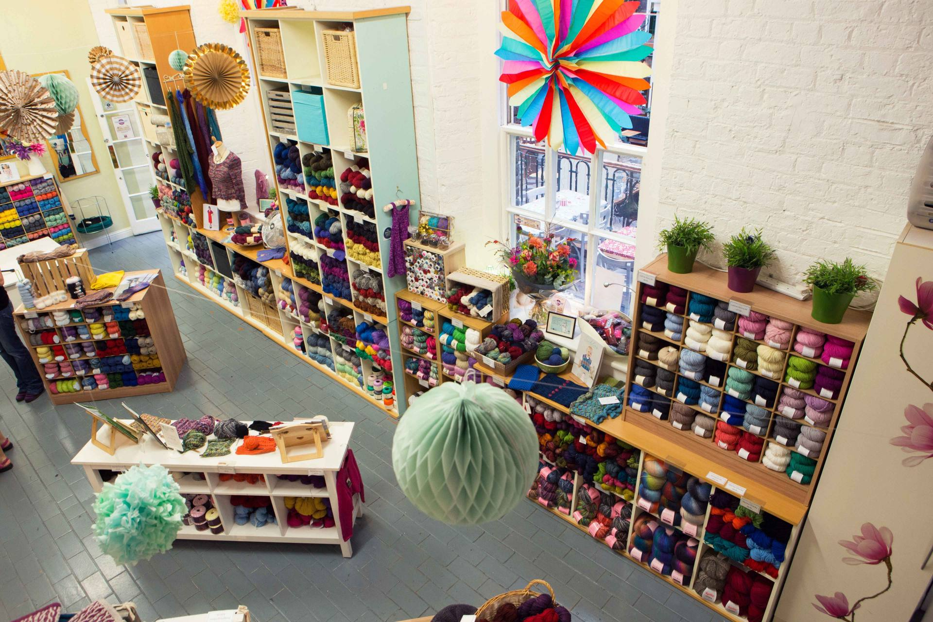 This is Knit interior of Dublin Yarn Shop
