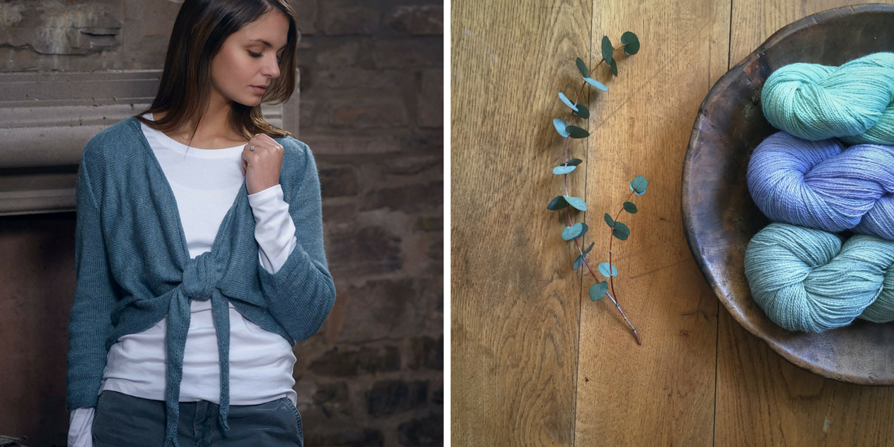 Knitting patterns using The Fibre Co. Meadow - Tie Front Cardigan