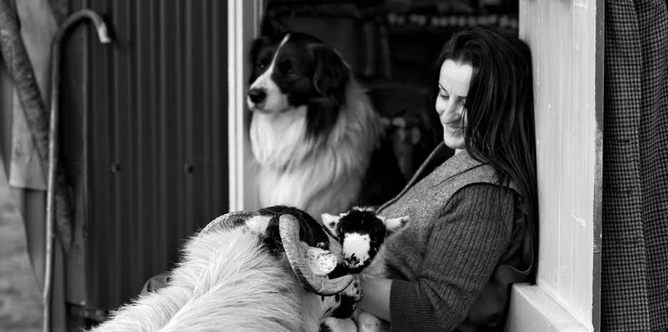 Alison on the farm (image credit Ian Lawson and Alison O'Neill)