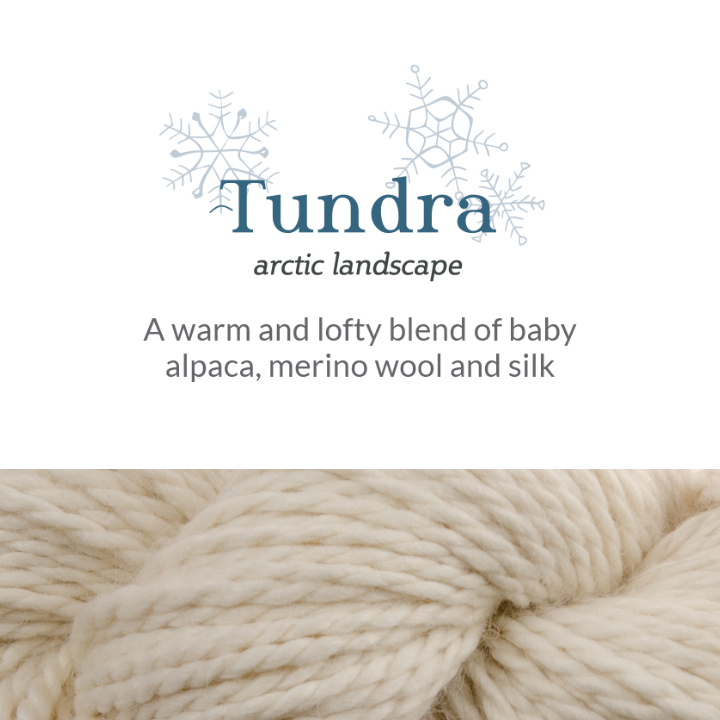 A close up of The Fibre Co. Tundra yarn in an off white shade