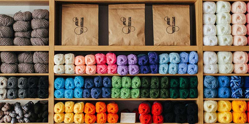 Shelves of Yarn