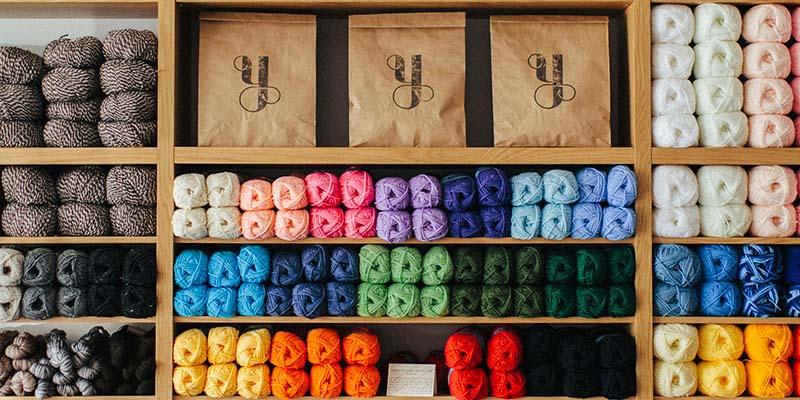 Shelves of Yarn