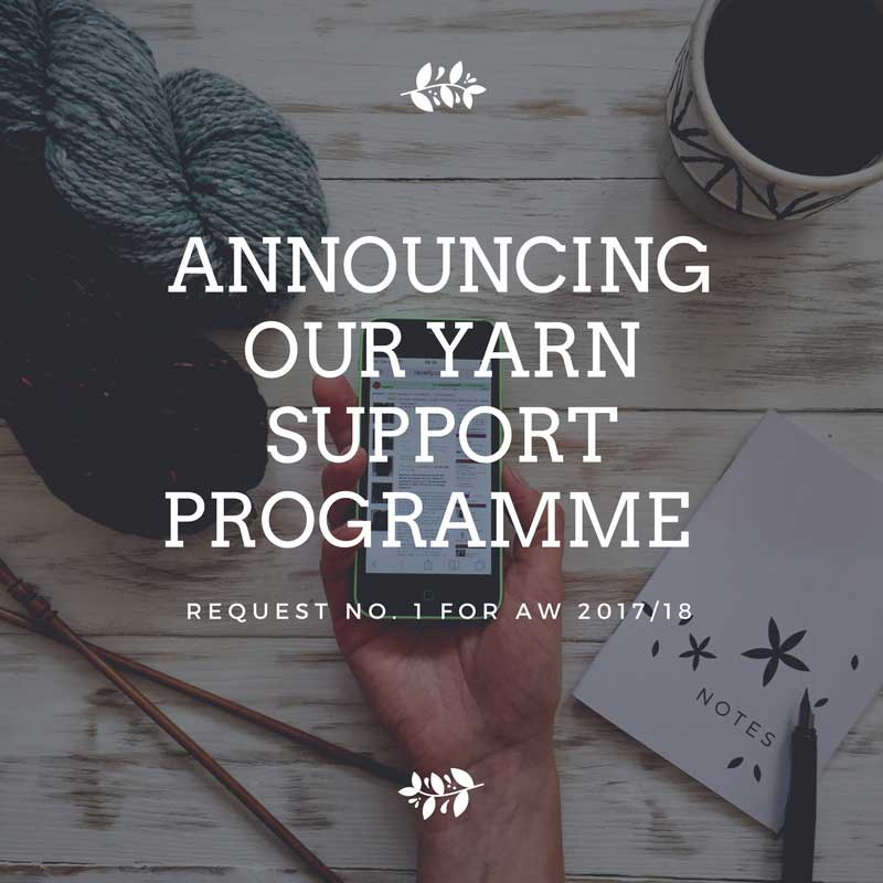 The Fibre Co.'s Yarn Support Prgamme