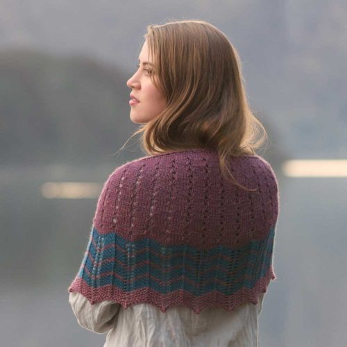 Tobermory Shawl - Road to China Waves Collection