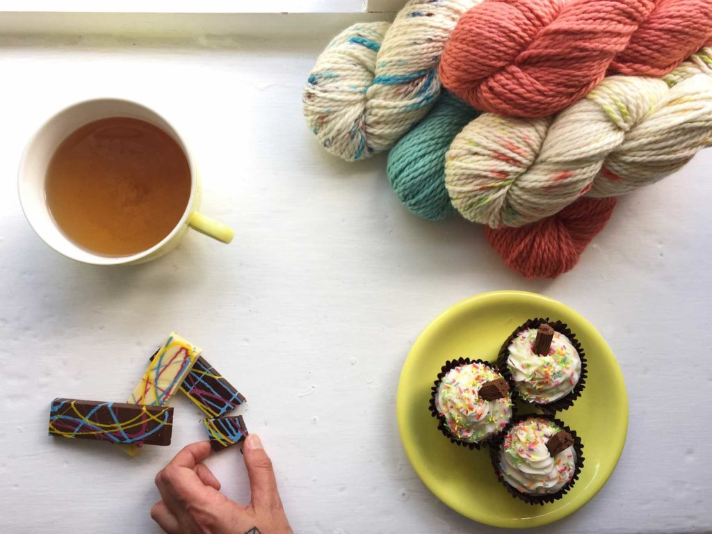 Competition to win 3 skeins of The Fibre Co. Team Brights #tfcbrights