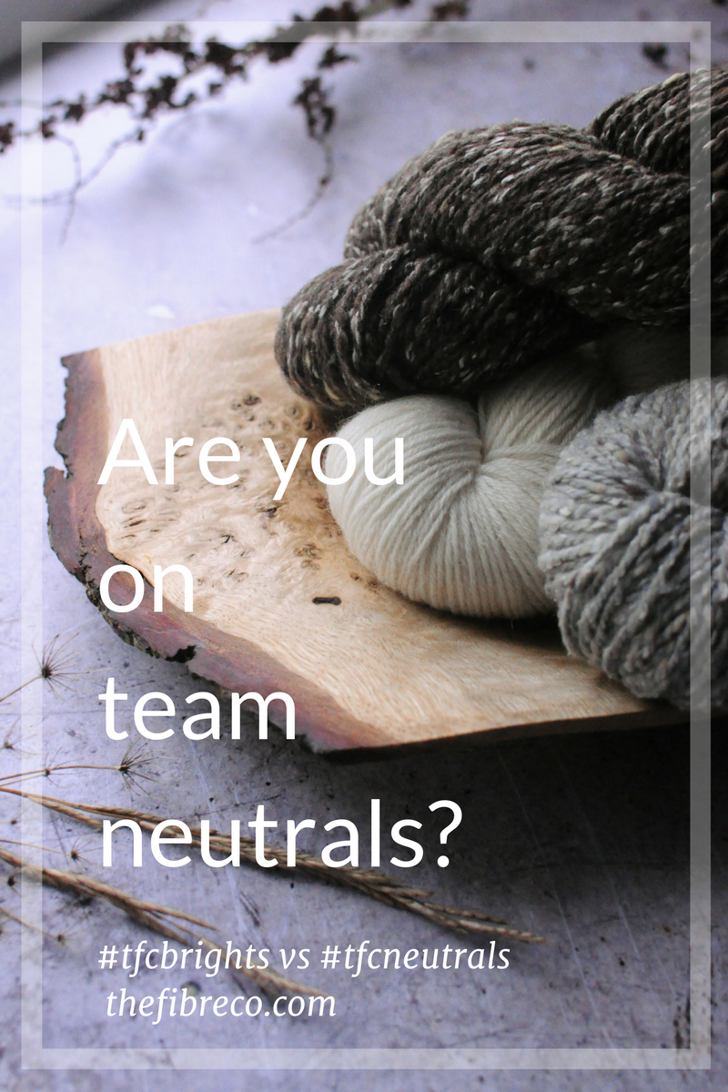 Team Neutral The Fibre Co. Yarn Giveaway