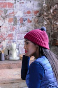 Mistake Rib Hat Pattern. Pattern for beginner knitters using The Fibre Co. Road to China Light