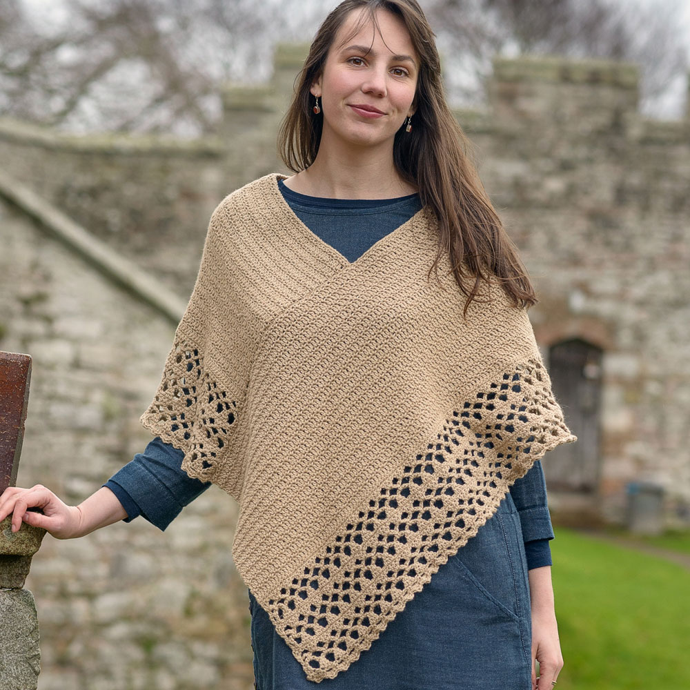 Crochet Poncho - The Fibre Co.