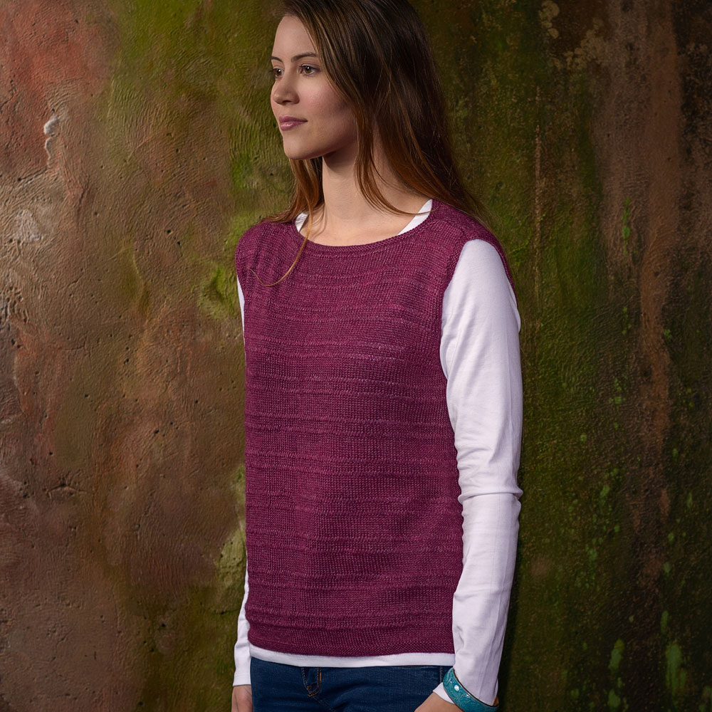 Drop Stitch Top knit in The Fibre Co. Canopy Fingering