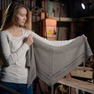 Eyelet Shawl - Simple patterns knit using The Fibre Co. Luma