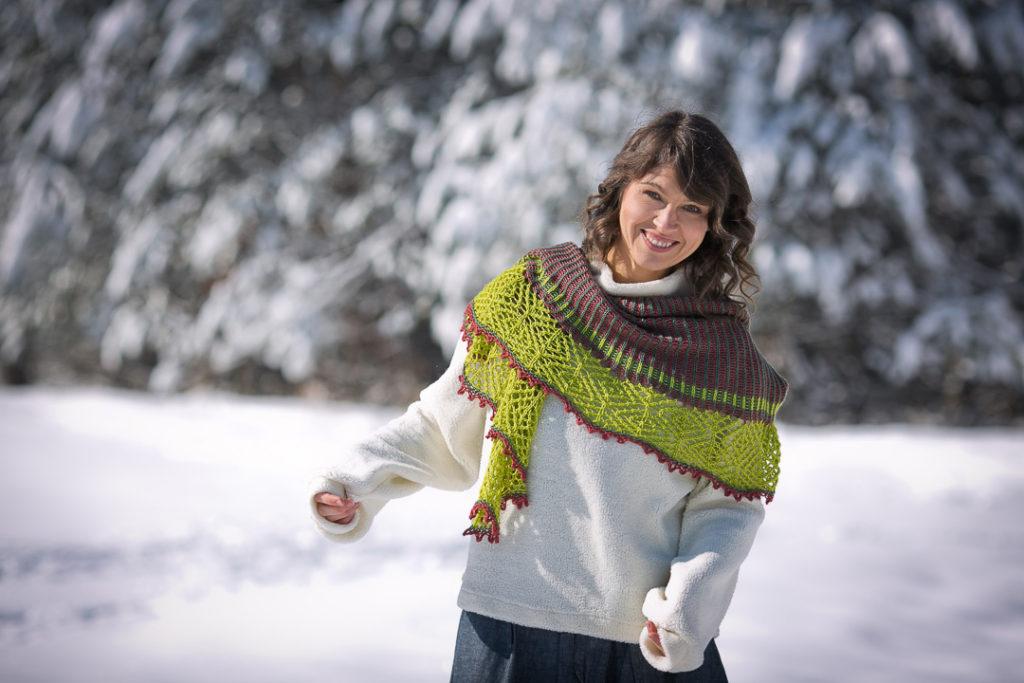 Kristina Vilimaite: Peace of Mind Shawl in The Fibre Company's Canopy Fingering