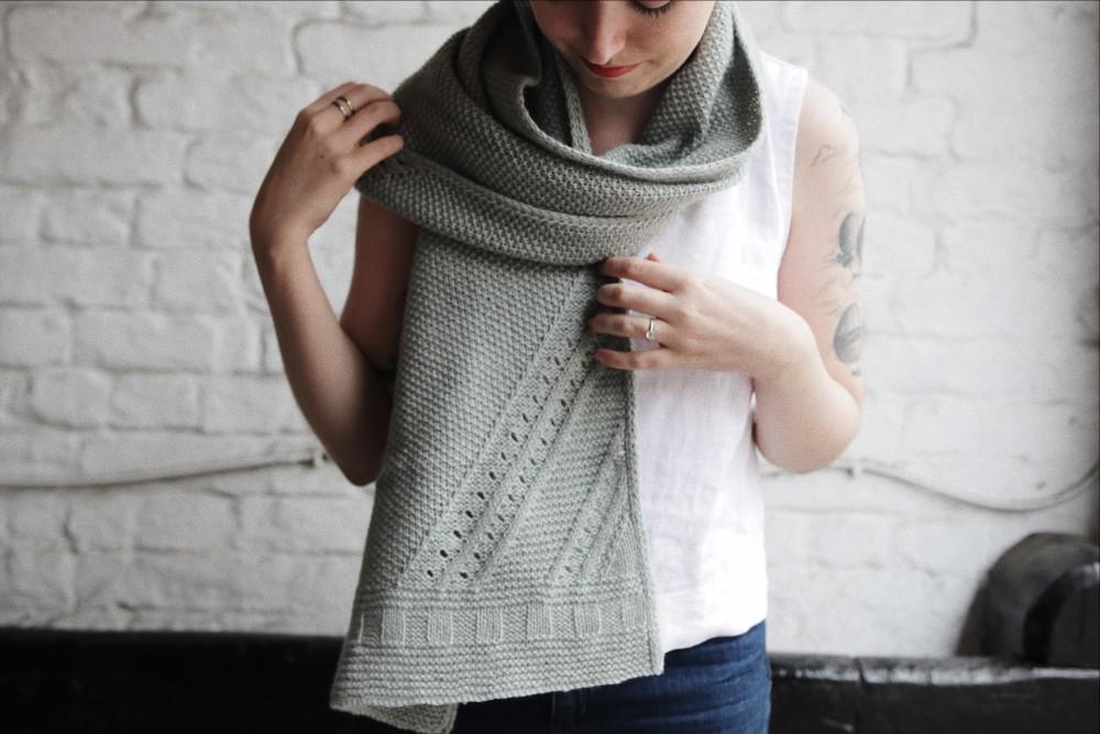 Fennel by Clare Mountain knit using The Fibre Co. Luma