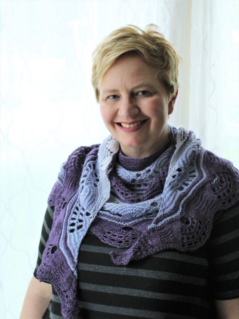 Mercenaria shawl knitting pattern by Heather Davis