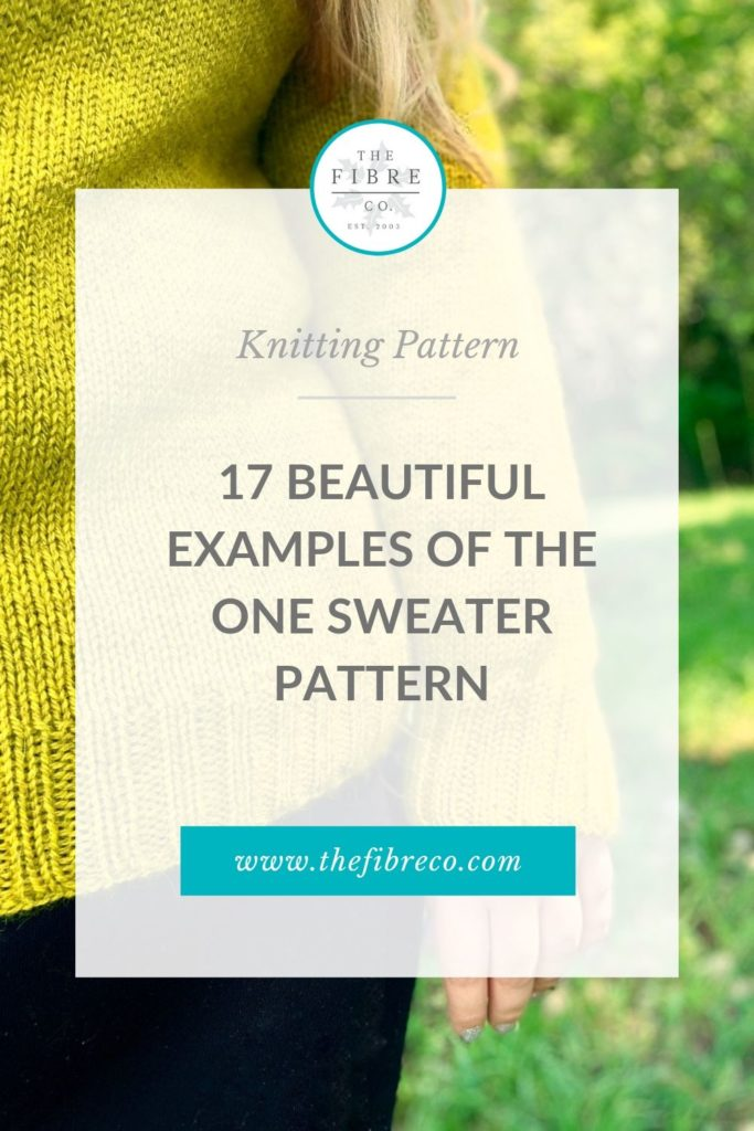 17 Beautiful Examples of the One Sweater Pattern by The Fibre Co. in Cumbria