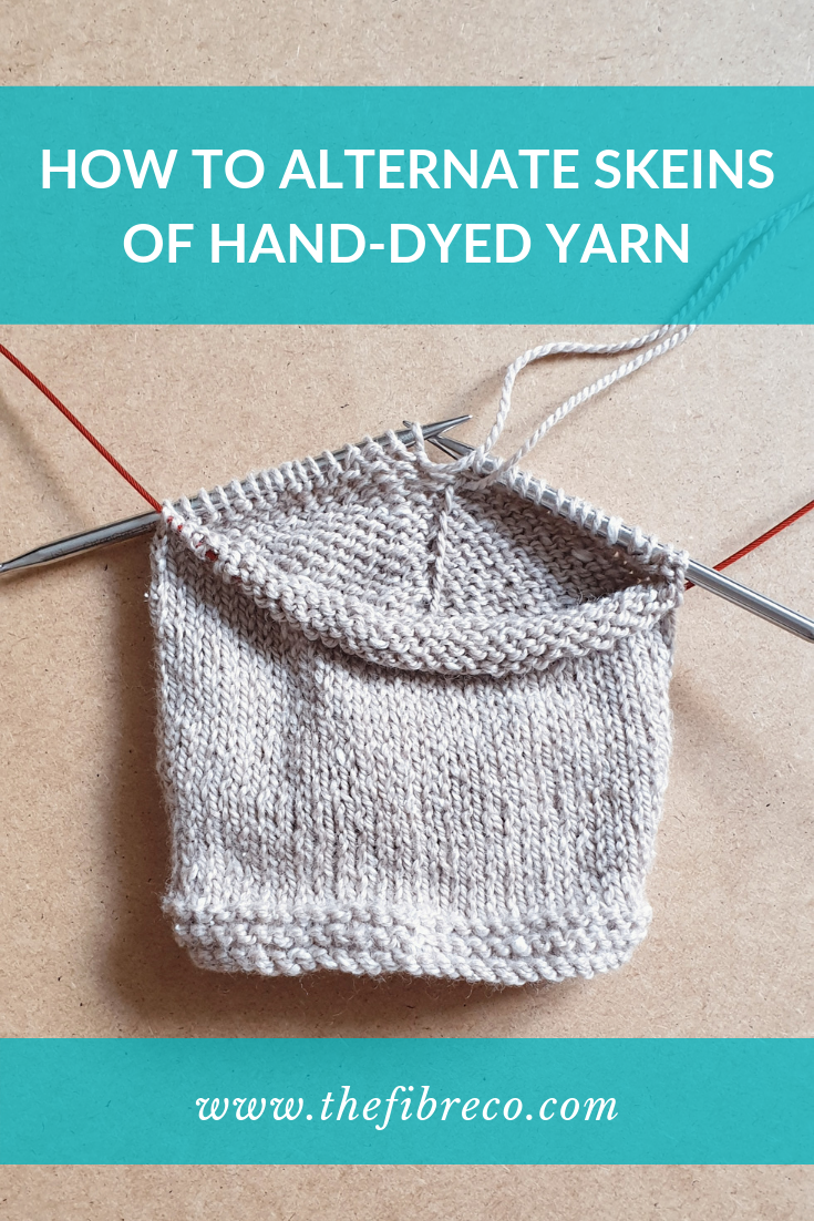 How to Alternate Skeins of Hand-Dyed Yarn