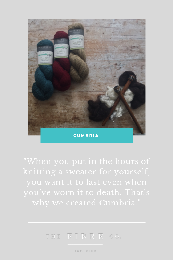 When you put in the hours of knitting a sweater for yourself, you want it to last even when you've worn it to death. That's why we created The Fibre Co. Cumbria