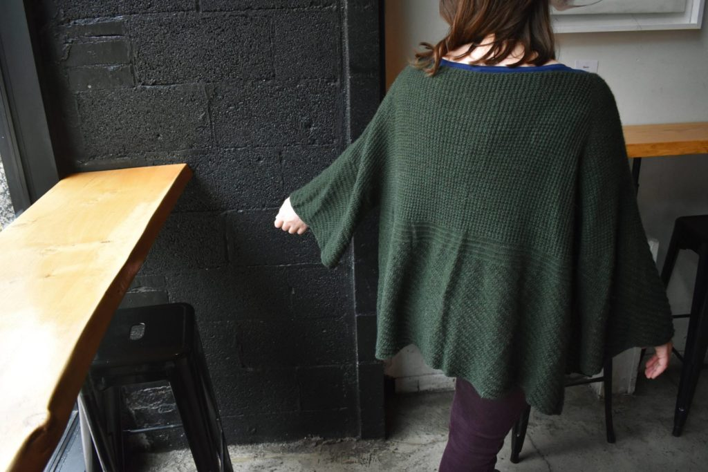 textured cardigan knitting pattern by Edward Sosnoski using The Fibre Co. Cumbria Fingering