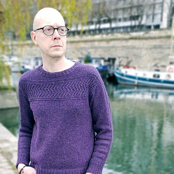 Purple Men's Gansey Sweater Pattern