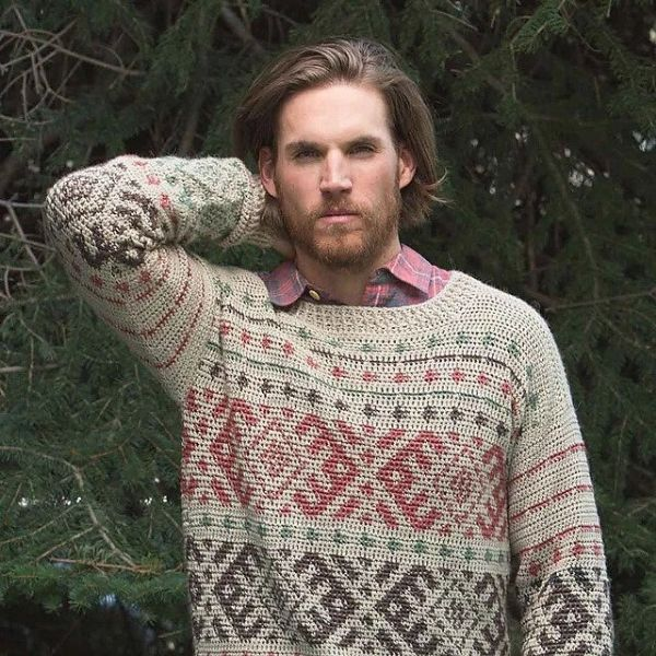 Tapestry Crochet Pattern for Men