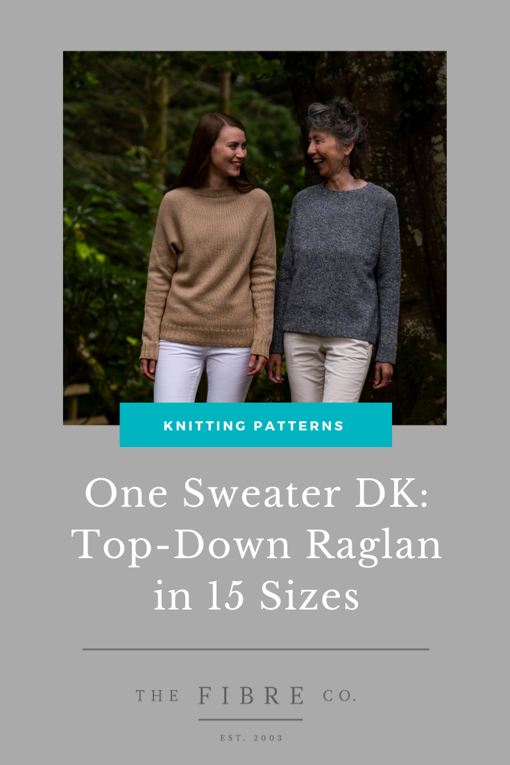 Knitting Patterns - One Sweater DK: Top-Down Raglan in 15 Sizes