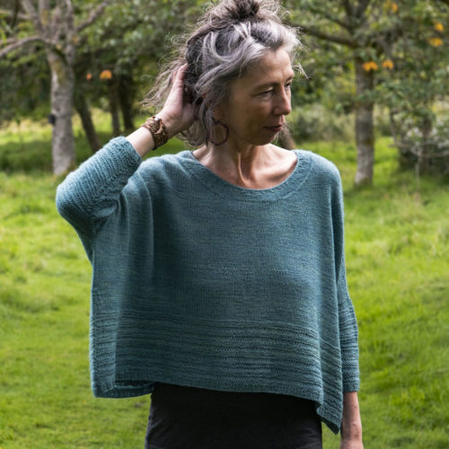 Swinside Sweater by Becky Baker in Canopy Fingering