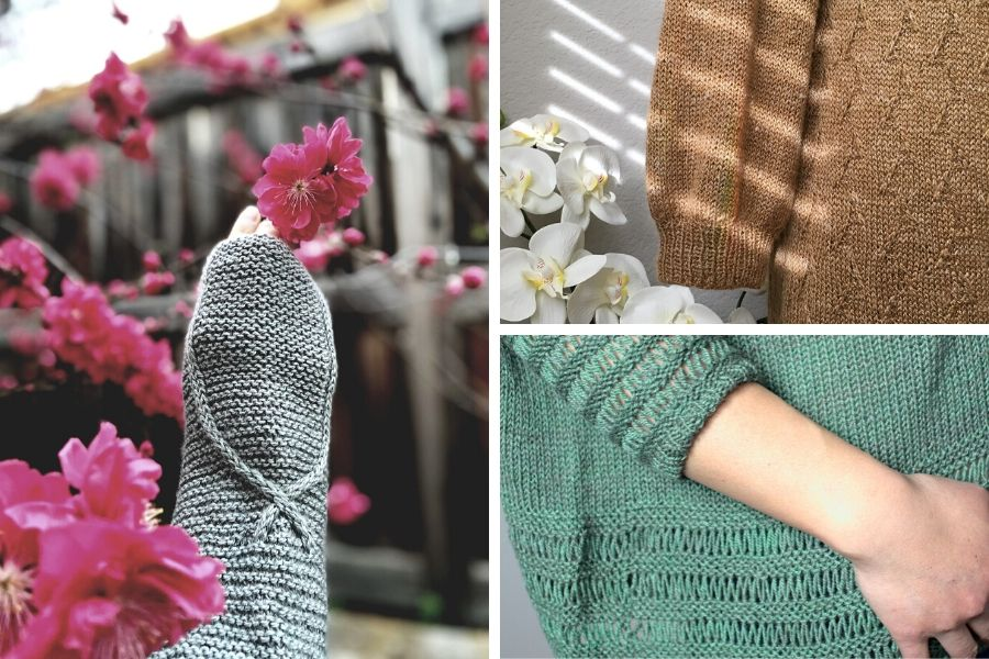 Close ups of knitted details from our Foundation SS20 collection