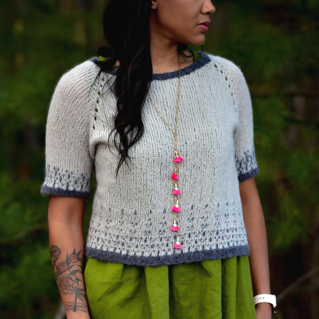 Sweater in The Fibre Co Luma and Cirro